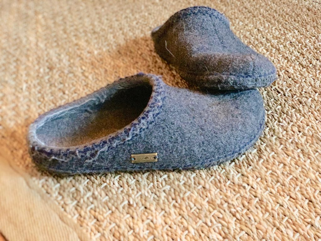 slippers in the home