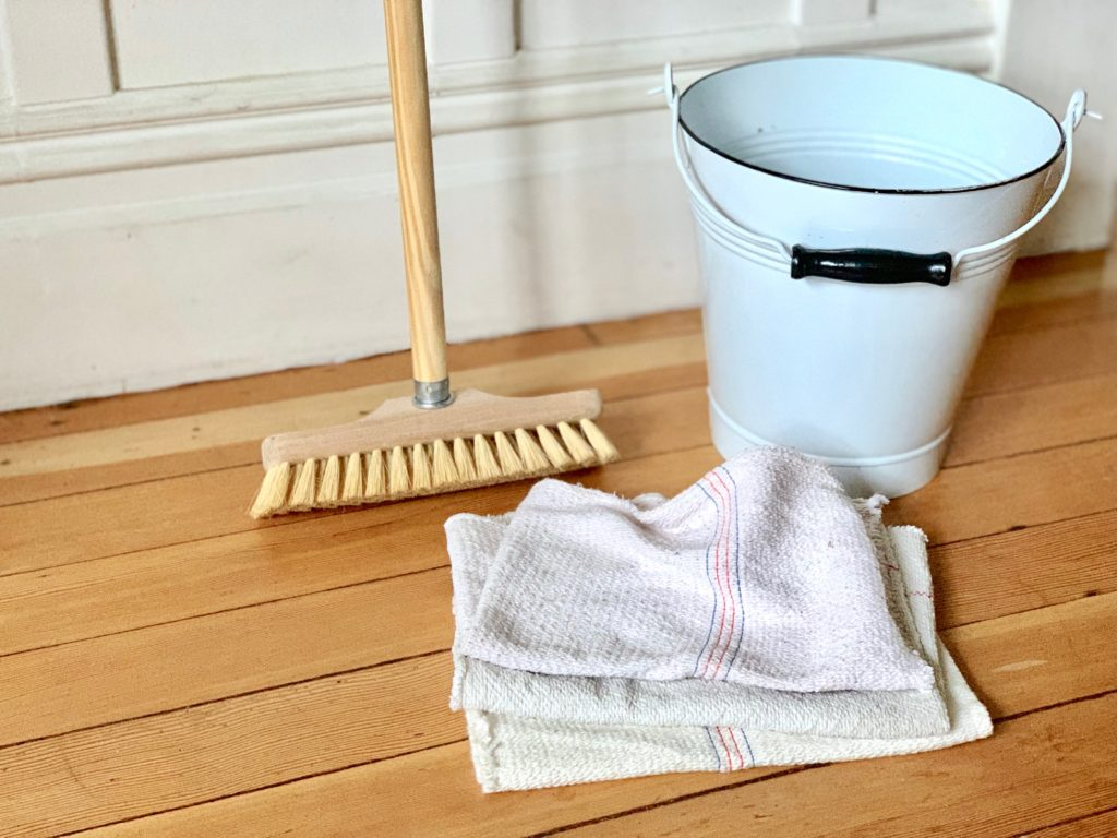 all you need to clean your wood floors