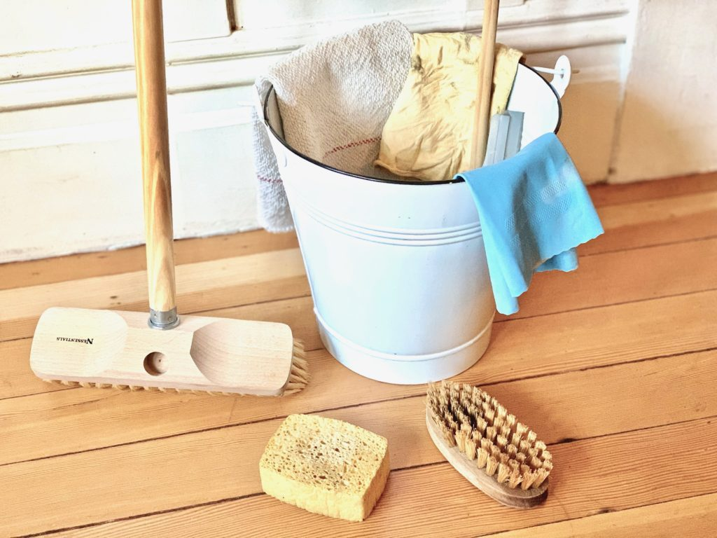 essentials for cleaning natural home