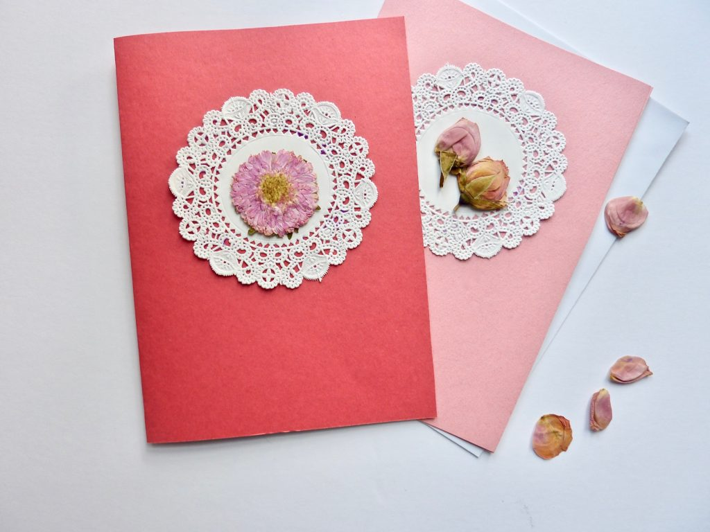 Simple Card with Pressed Flowers