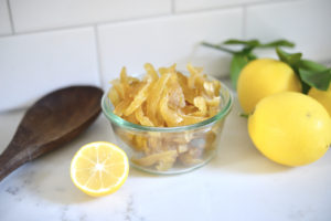 How to make candied lemon peels