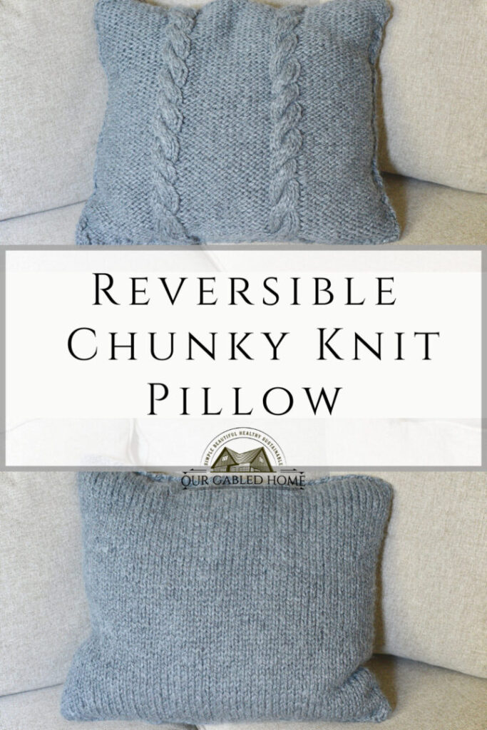 How to Knit an Easy Cozy Chunky Knit Pillow   Beginner-friendly tutorial