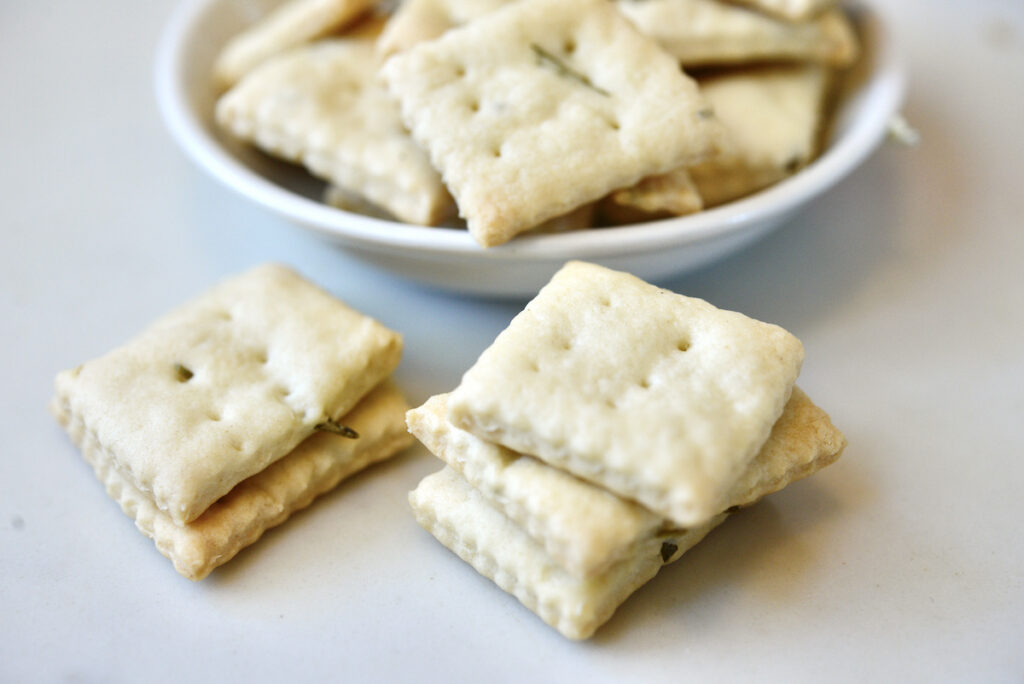 crackers and bowl